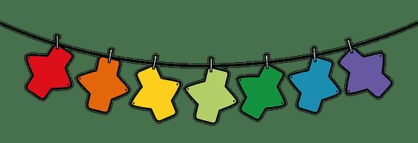 rainbow cloth pads illustration