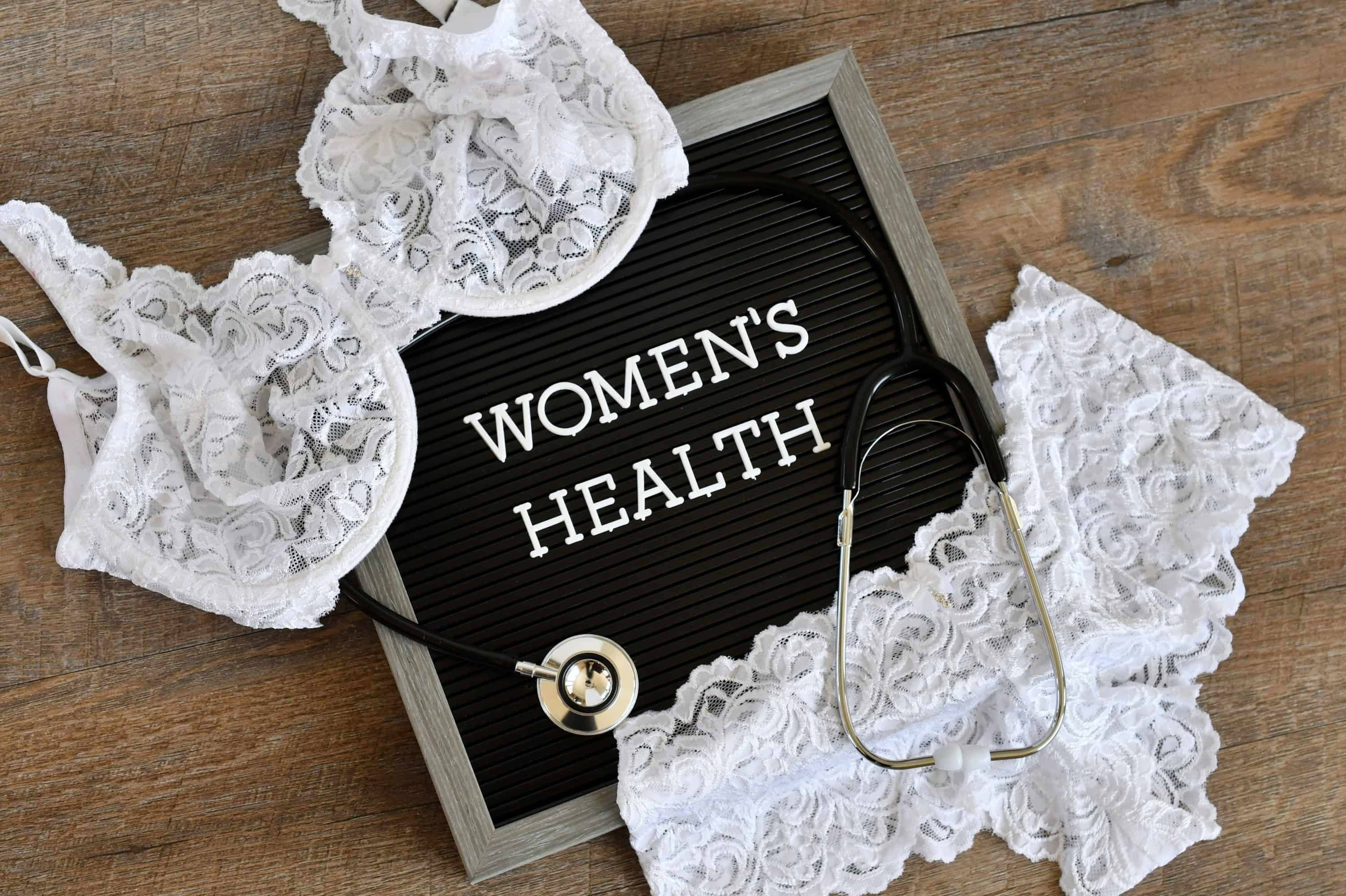 Womens health message board sign
